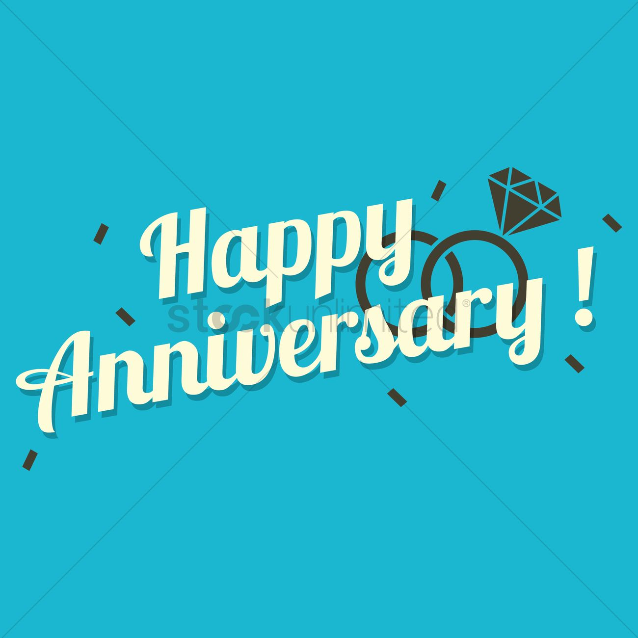 happy anniversary hand lettering vector graphic