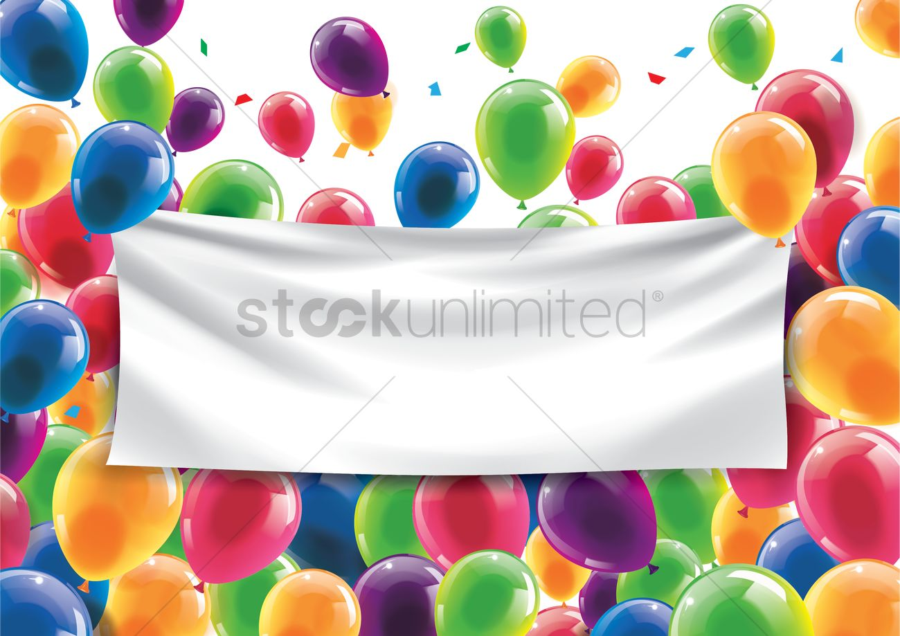 happy birthday concept with an empty banner vector image 1933374