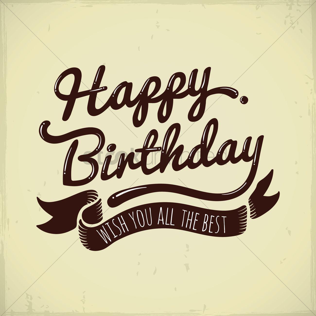 Happy Birthday Greeting Vector Image 1811330 Stockunlimited