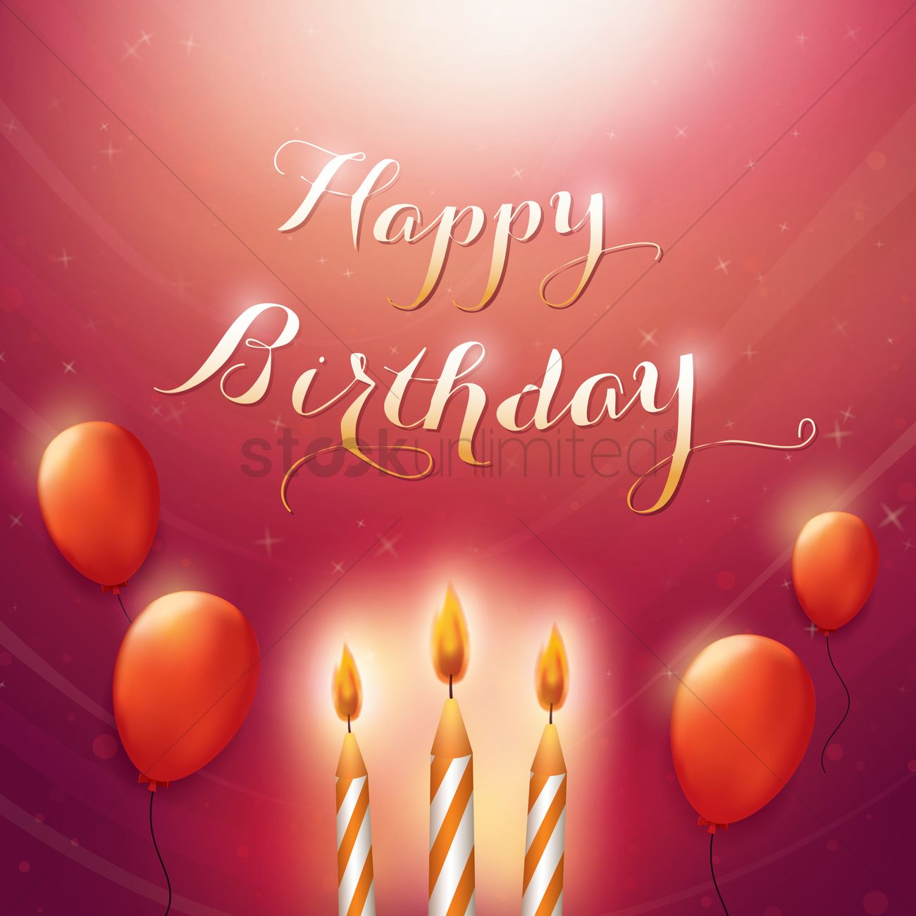 Happy Birthday Wallpaper Vector Image 1819974 Stockunlimited