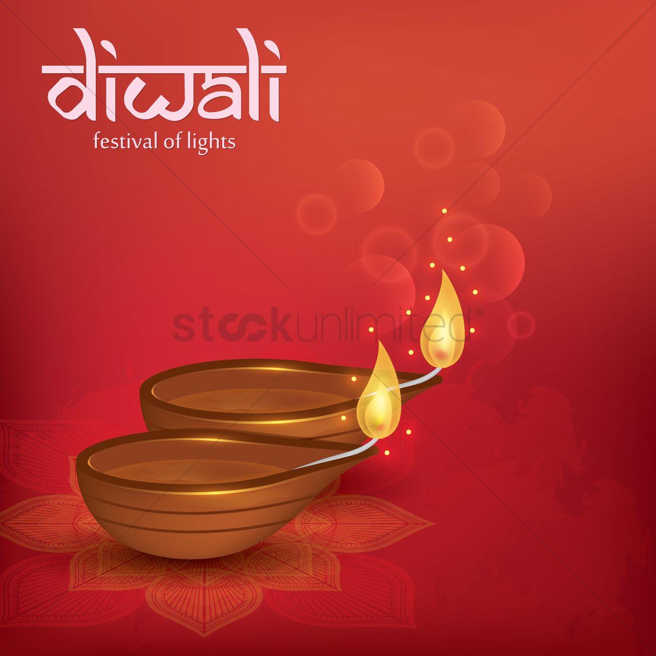 Happy Diwali Greeting Design Vector Image 1989782 Stockunlimited