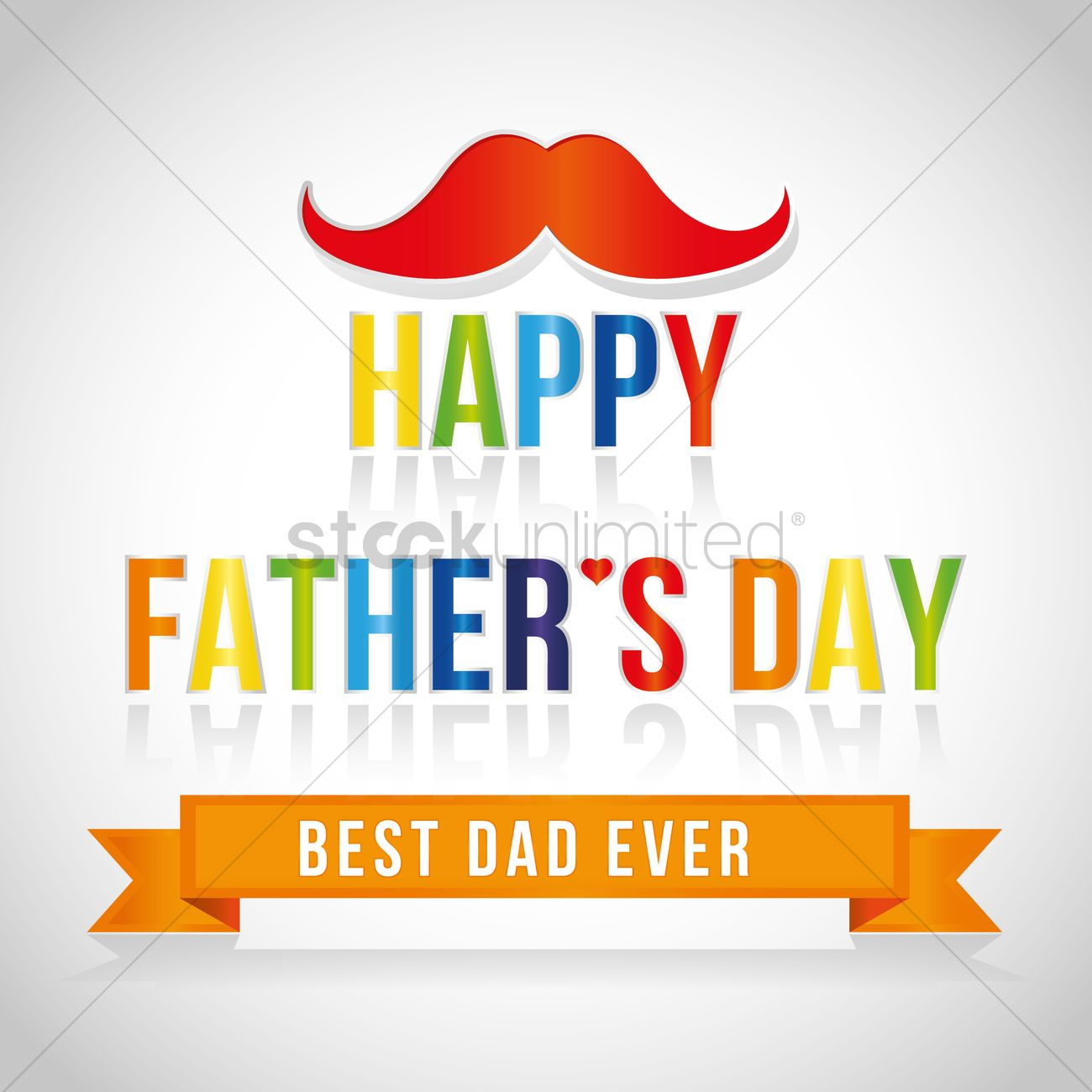 Free Happy Fathers Day Greeting Card Vector Image 1558802