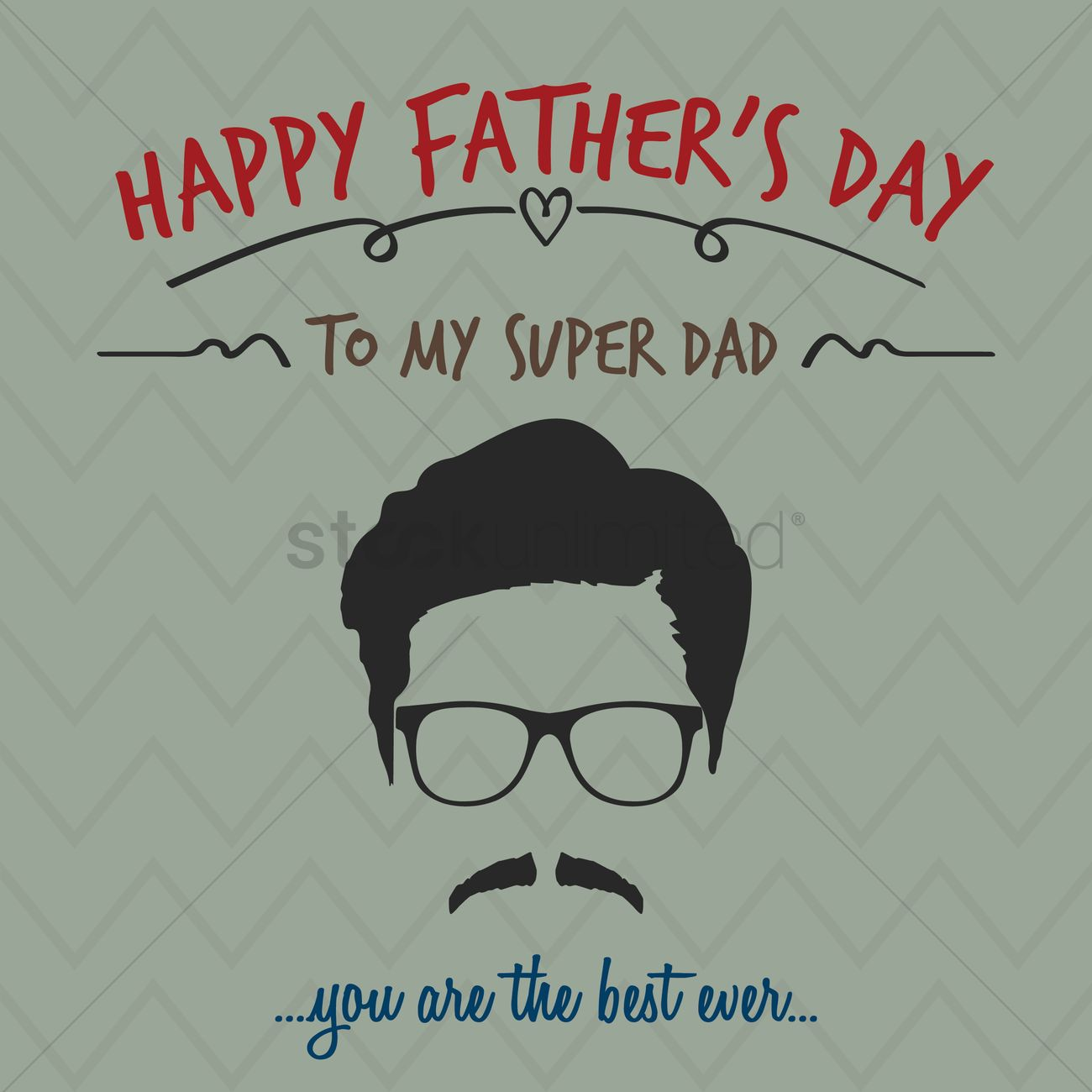Happy Fathers Day Greeting Vector Image 1566070 Stockunlimited