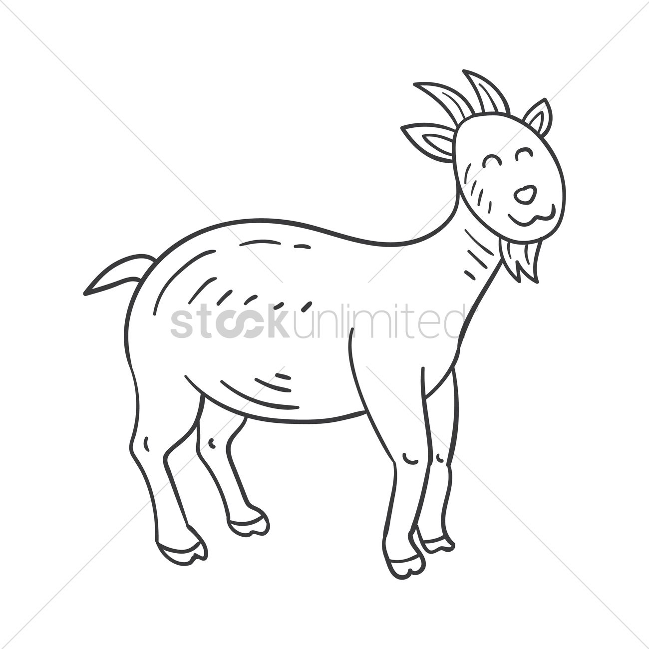 Happy goat Vector Image - 2029142 | StockUnlimited for happy goat drawing  565ane