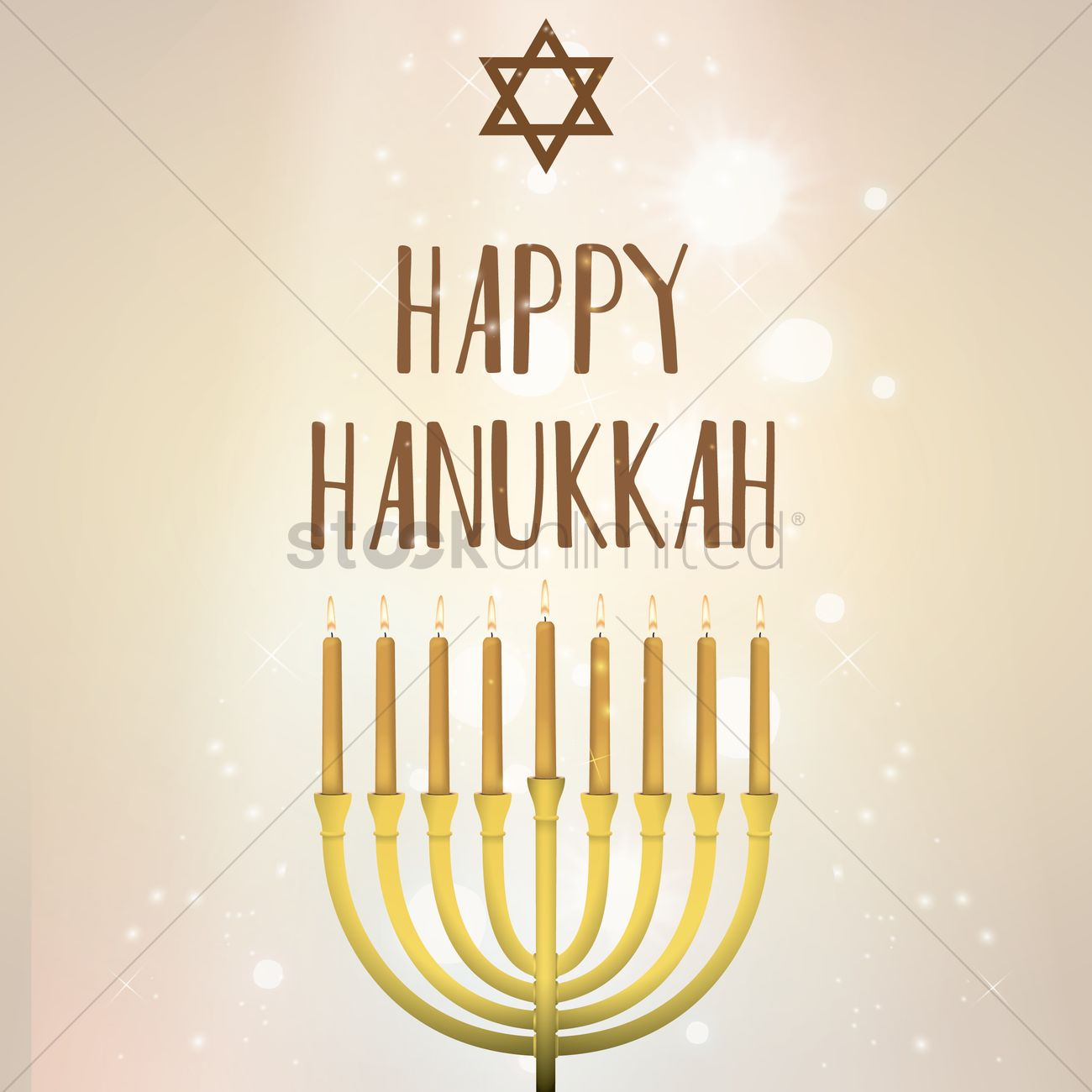 Happy Hanukkah Greeting Design Vector Image 1989478 Stockunlimited