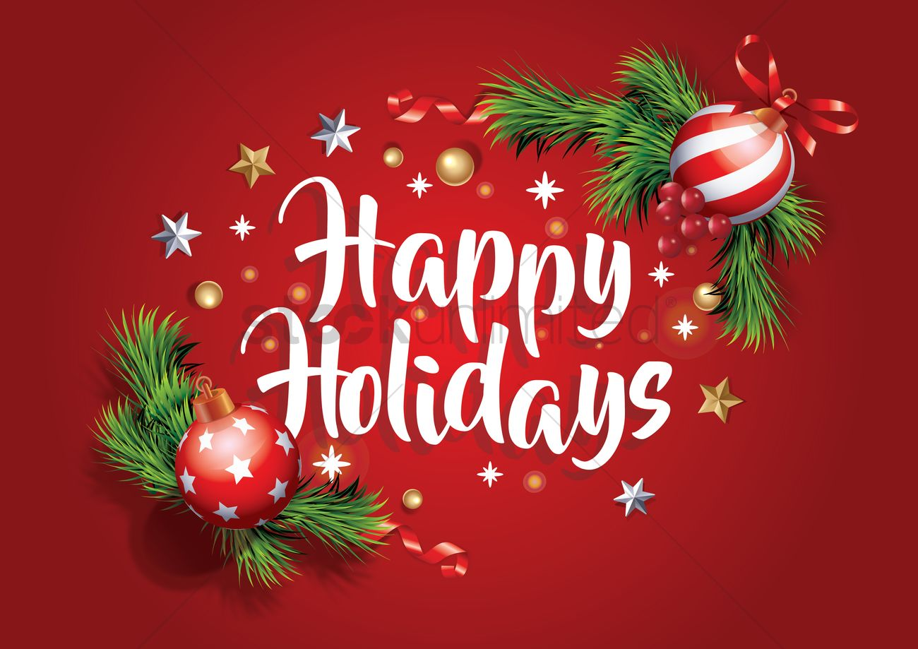 Happy holidays Vector Image - 2111490 | StockUnlimited