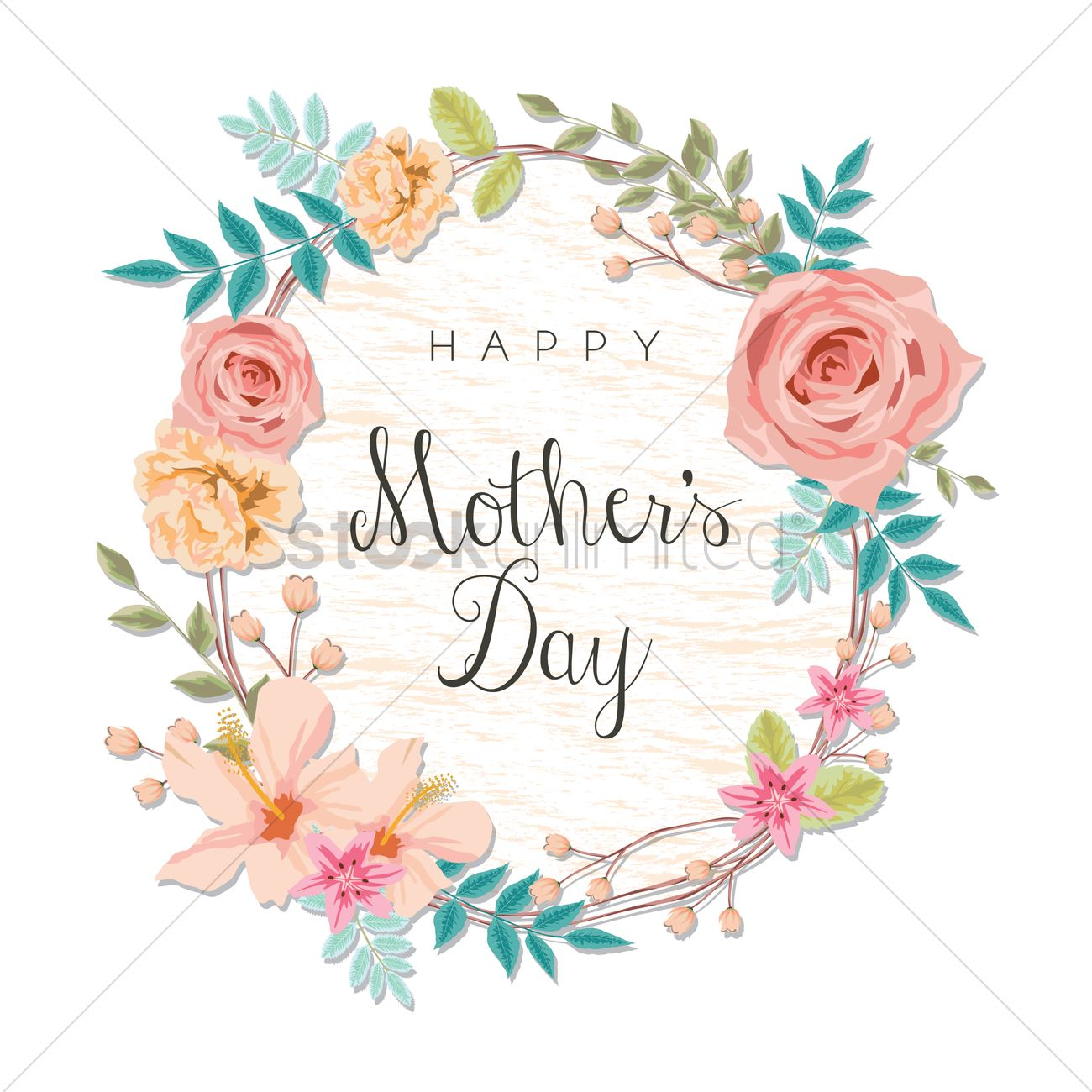 Happy mothers day card vector image 1807838 stockunlimited happy mothers day card vector graphic m4hsunfo