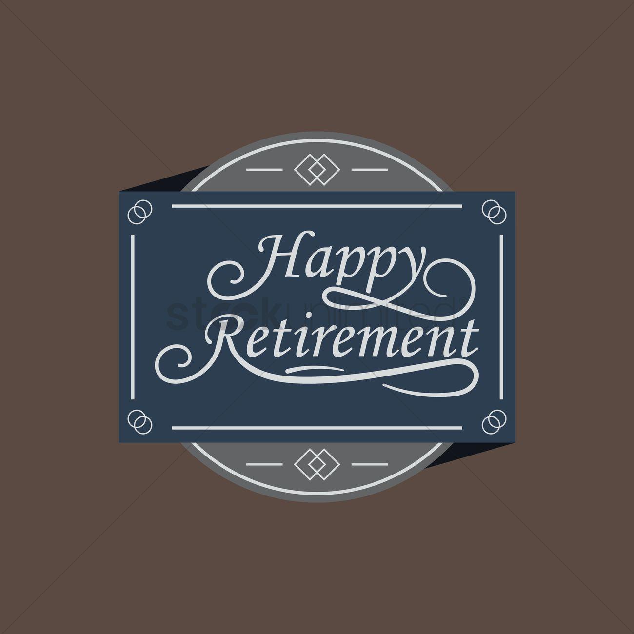 Happy Retirement Label Vector Image 1827490 Stockunlimited
