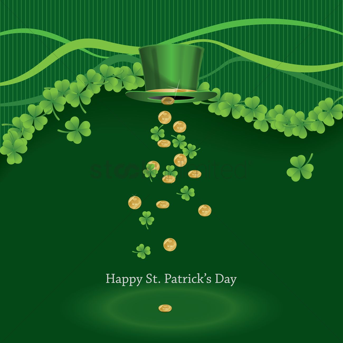 Happy St Patrick S Day Wallpaper Vector Image 1482586