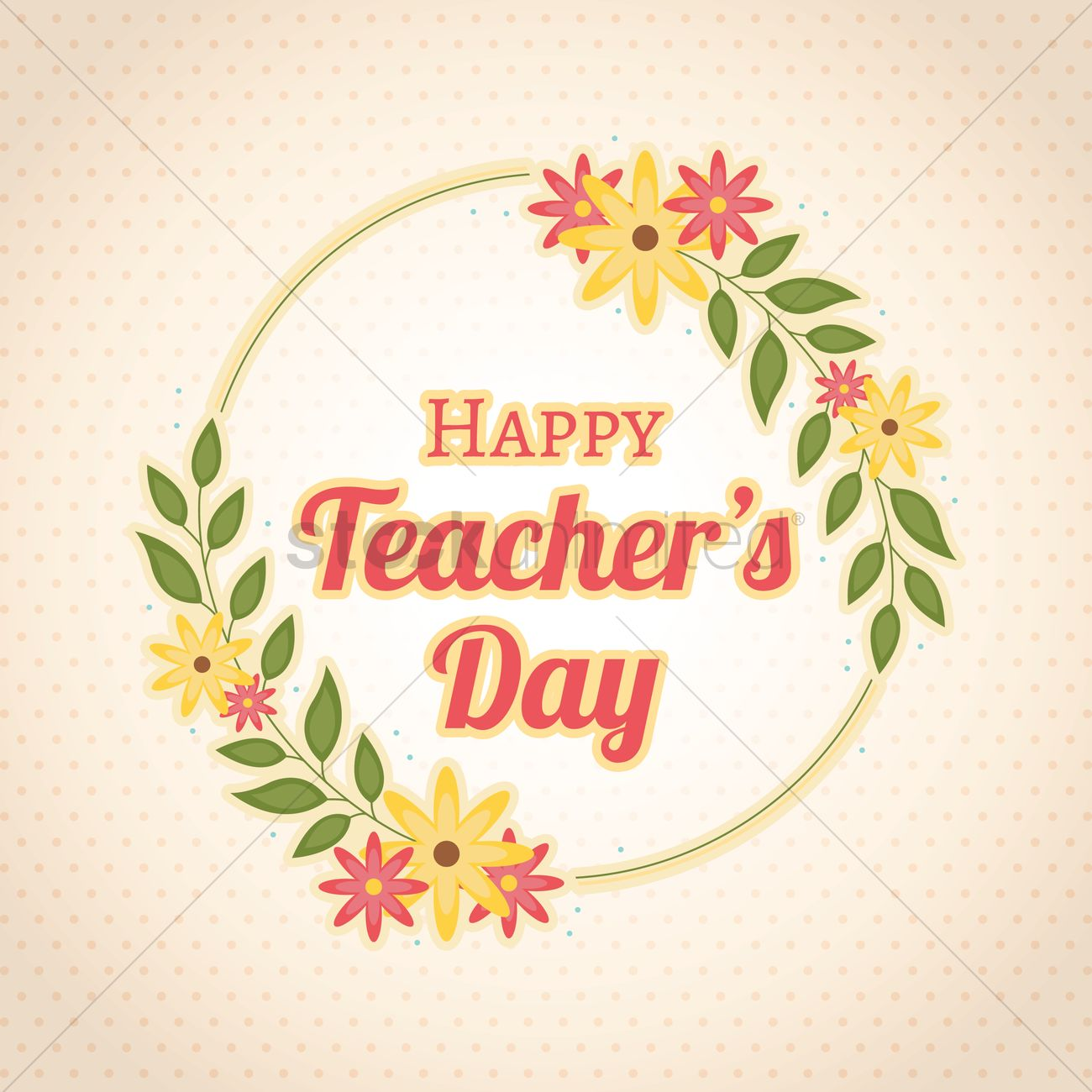 Happy Teachers Day Design Vector Image 1964598 Stockunlimited