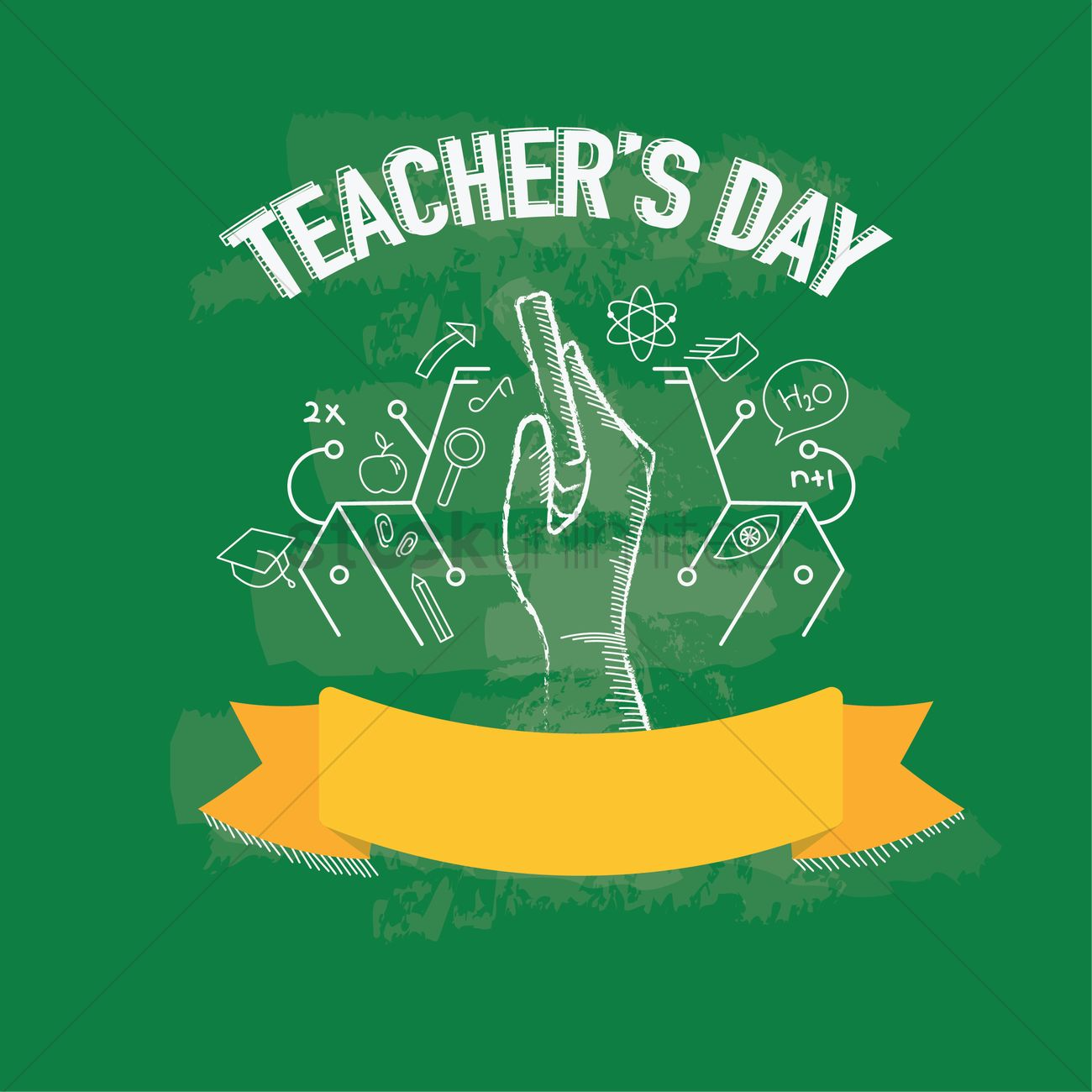 happy teacher's day design vector image  2006990