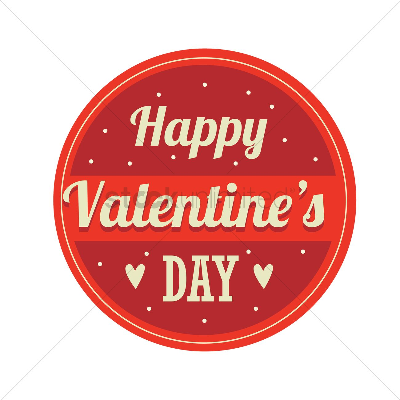 Happy Valentines Day Label Vector Image 1708262 Stockunlimited