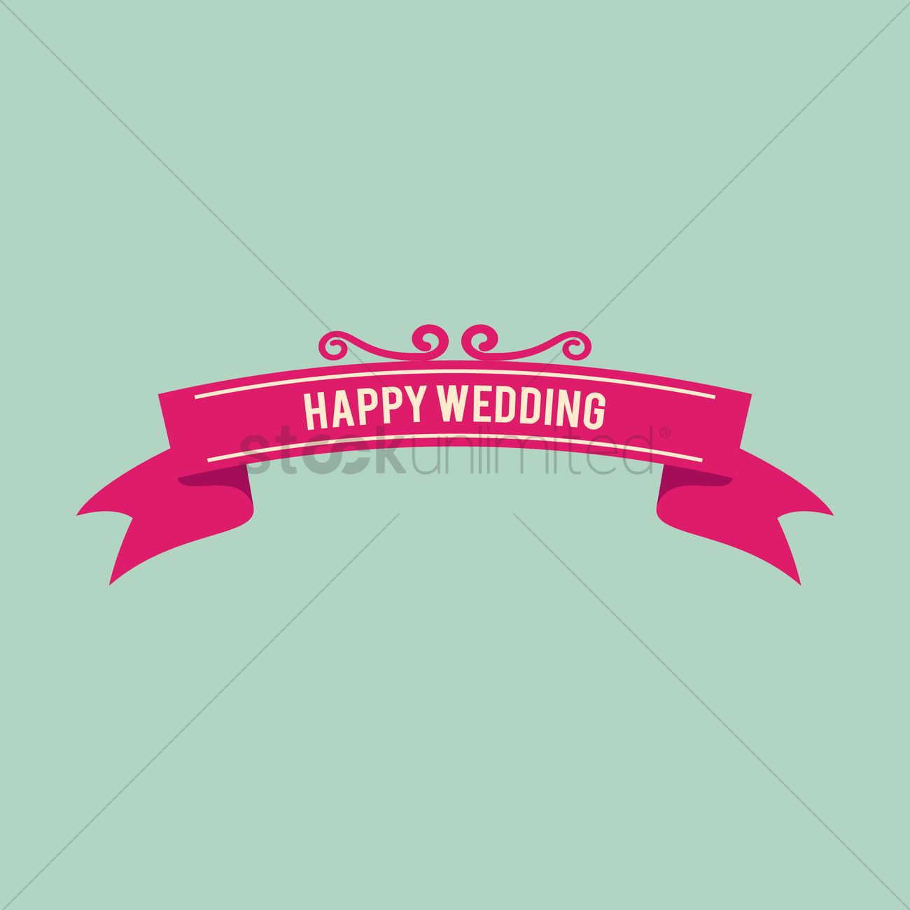 Hy Wedding Banner Vector Graphic