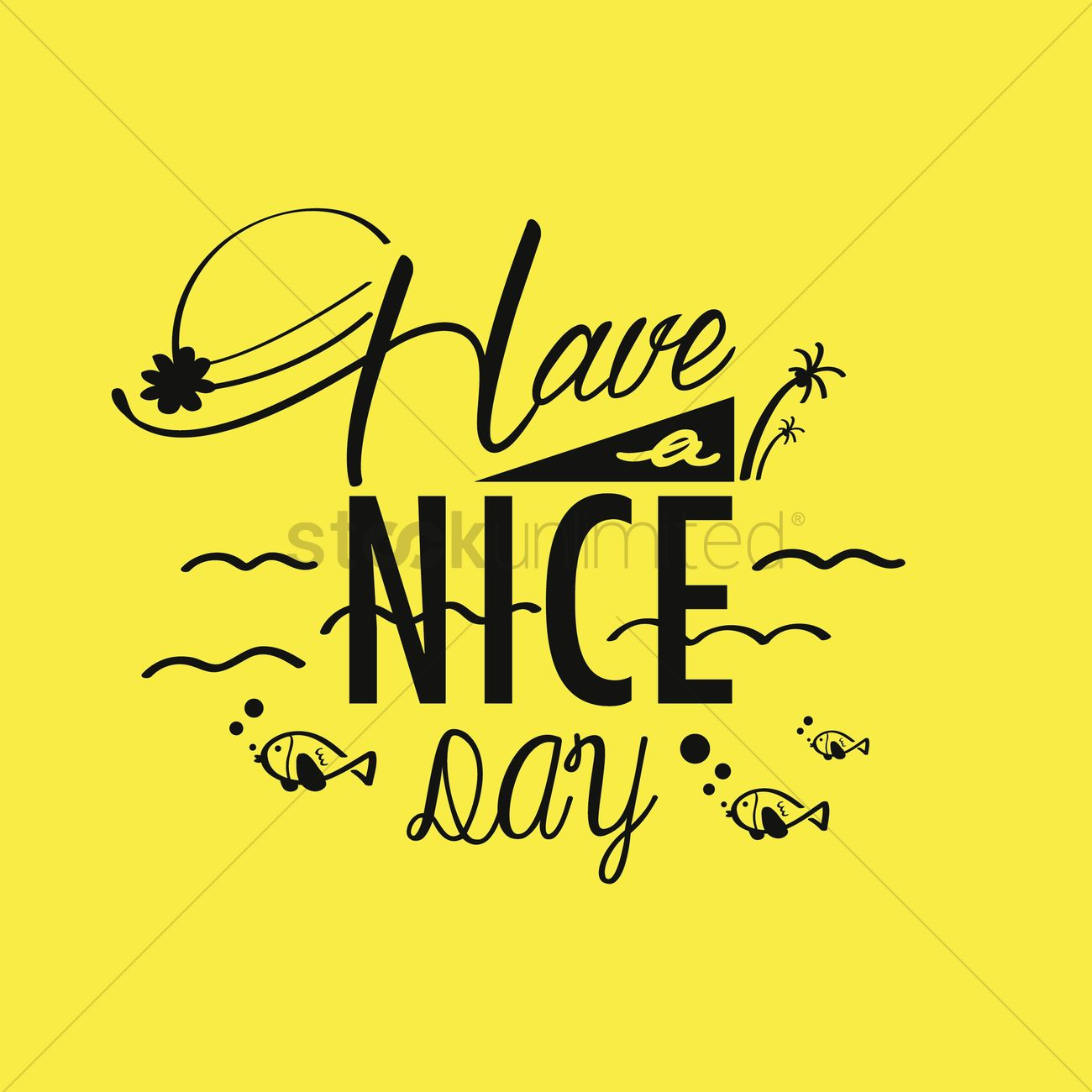 Have A Nice Day Wallpaper Vector Image 1791358 Stockunlimited