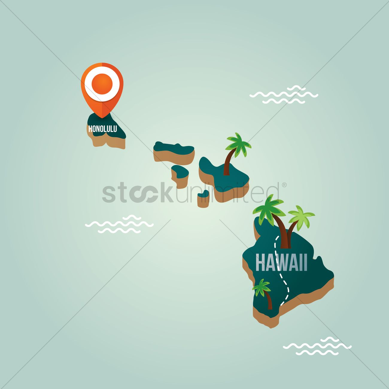 Hawaii Map With Capital City Vector Image StockUnlimited - Hawaii cities map