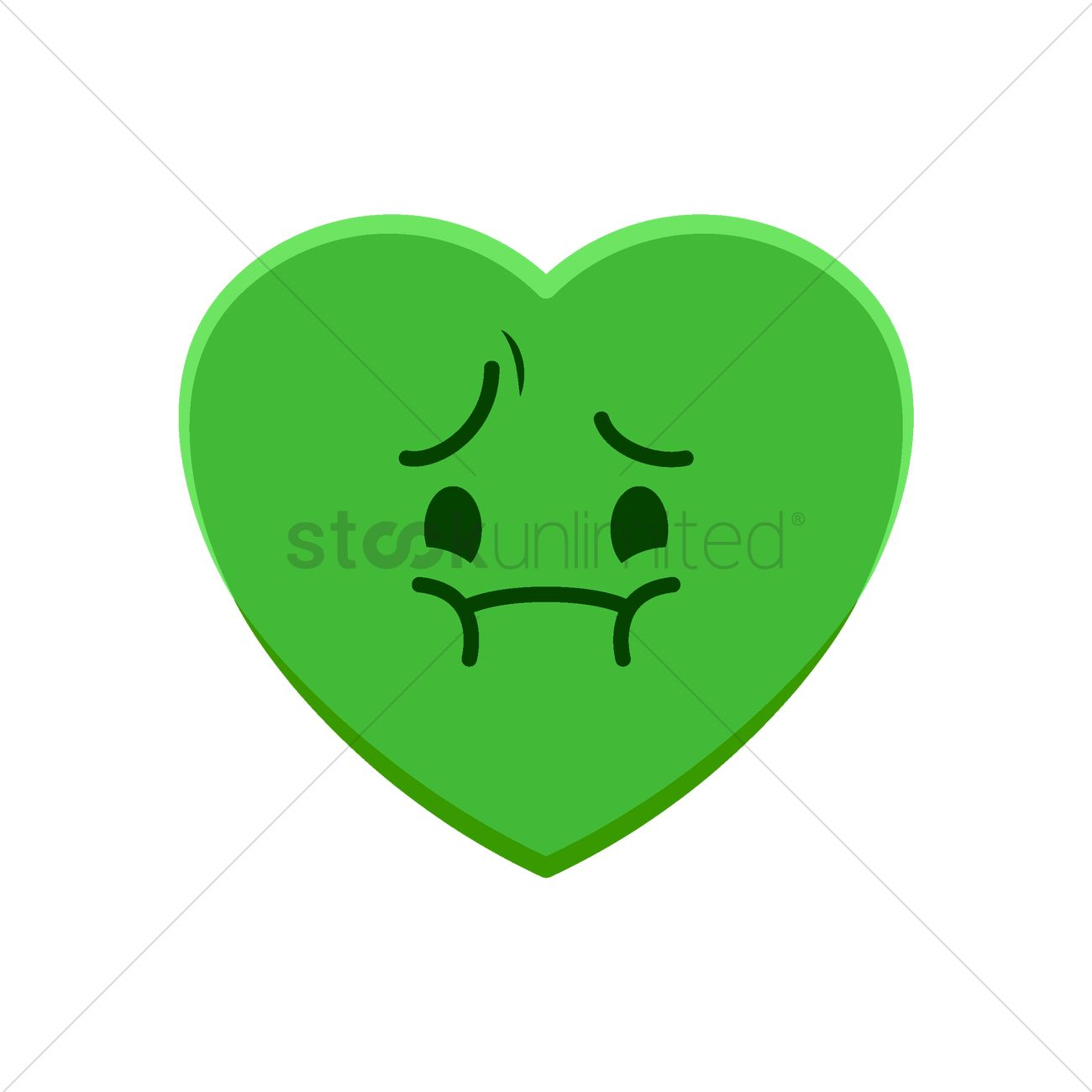 Heart Character Feeling Nausea Vector Image 1977534 Stockunlimited