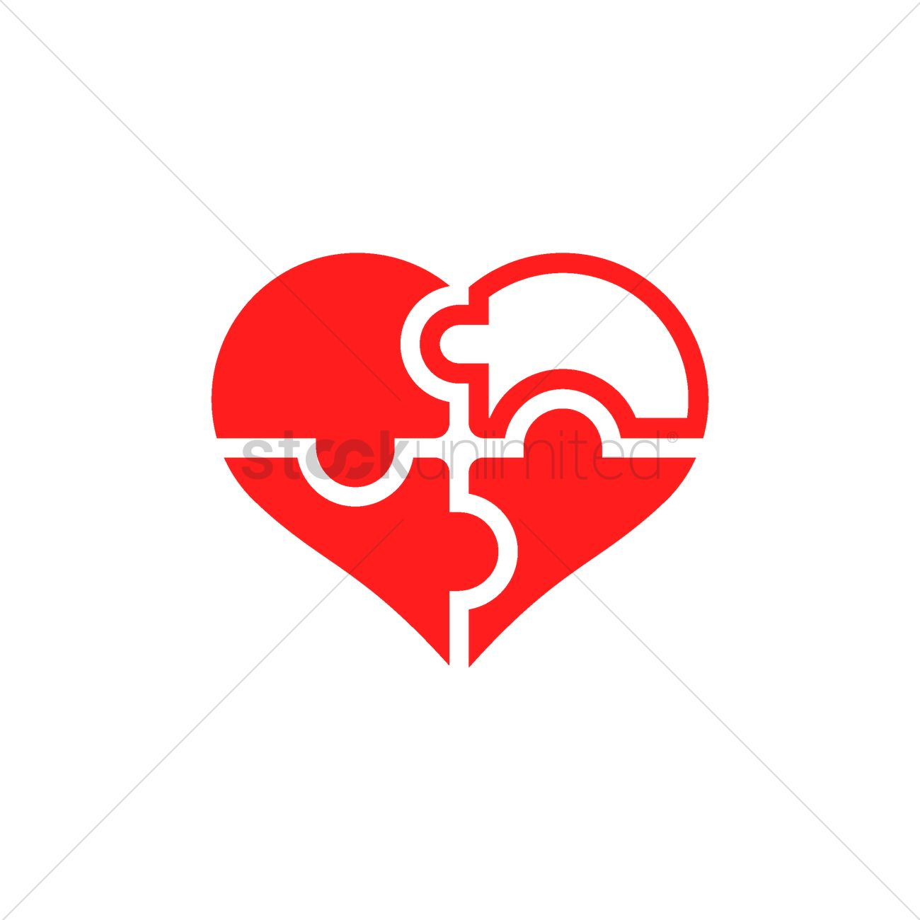 Heart shape puzzle Vector Image - 1977494   StockUnlimited for Vector Heart Shape Illustrator  75tgx