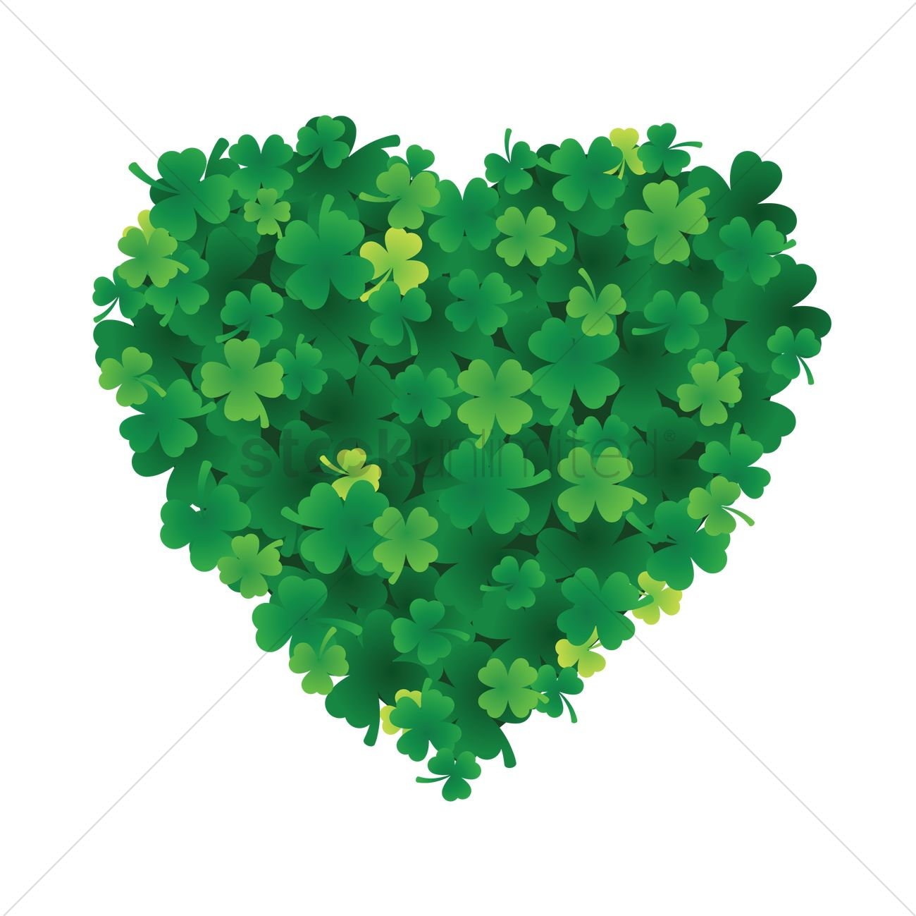 Heart shaped of leaves clover Vector Image - 1991394 | StockUnlimited