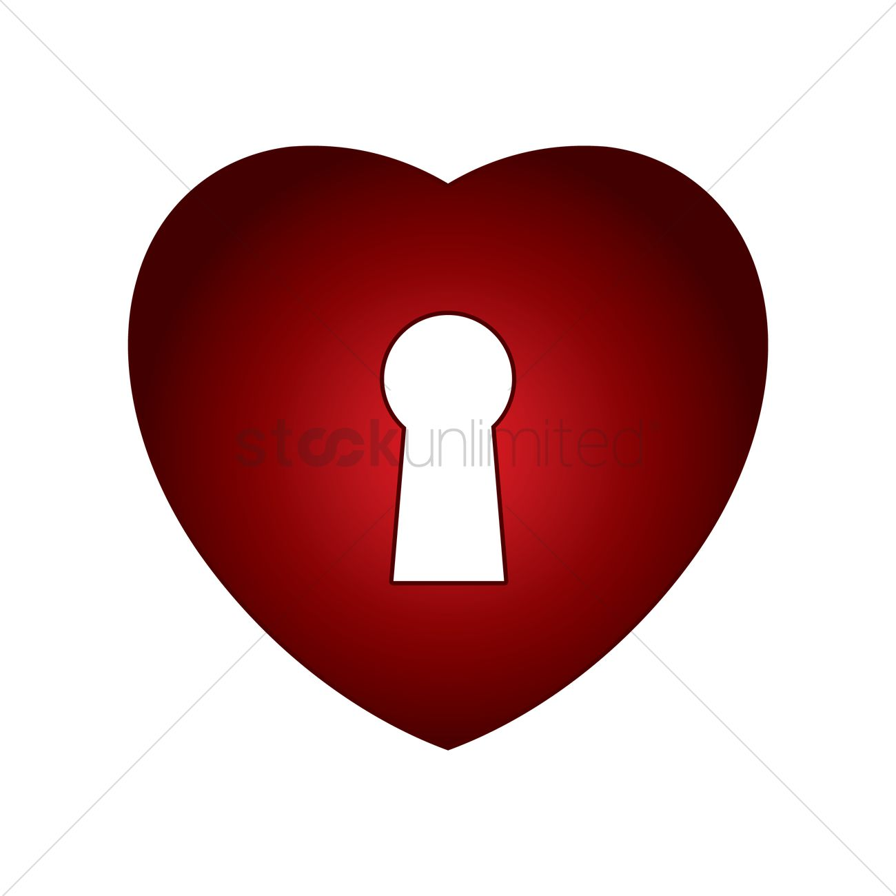 Heart With Key Hole Vector Image 1478190 Stockunlimited