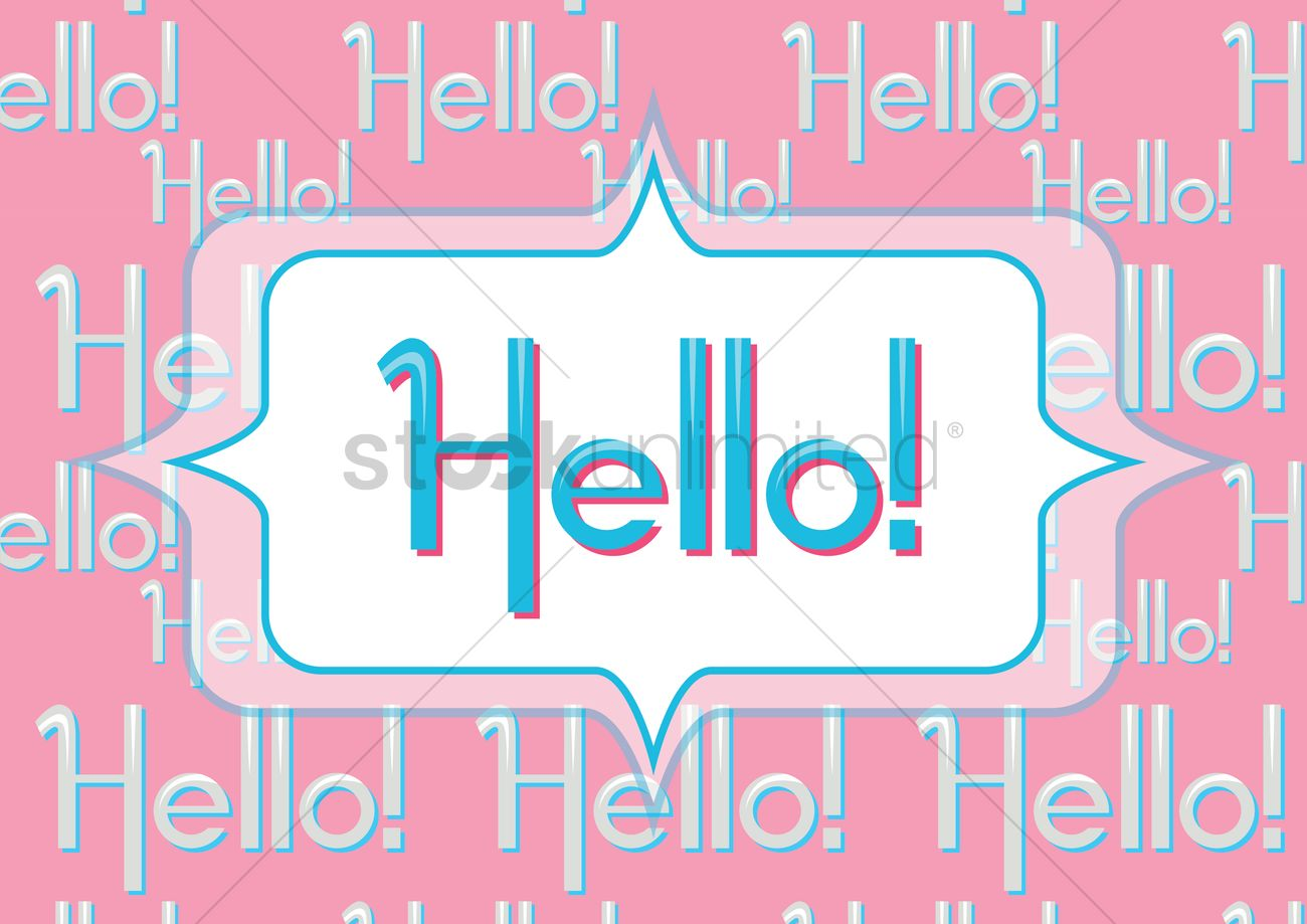 Hello Greeting In A Speech Bubble Vector Image 1397558