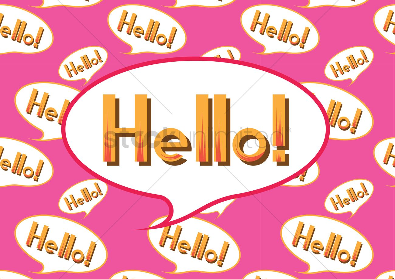 Hello Greeting In A Speech Bubble Vector Image 1397562