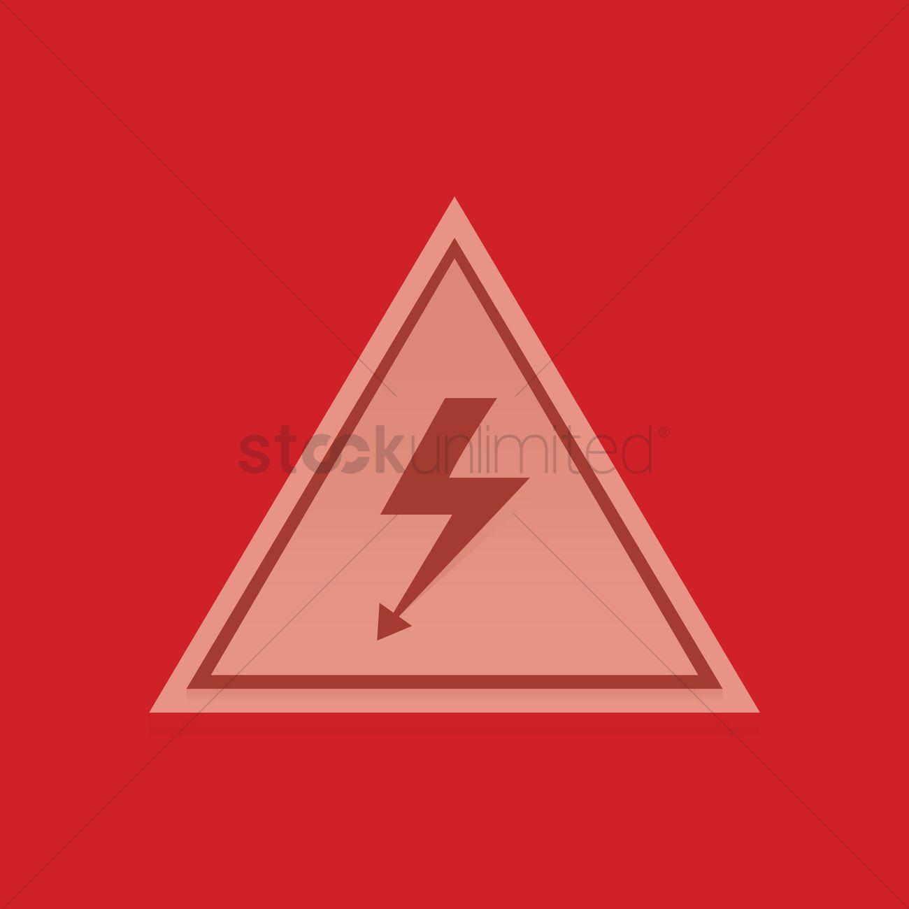 High Voltage Symbol Vector Image 1347658 Stockunlimited
