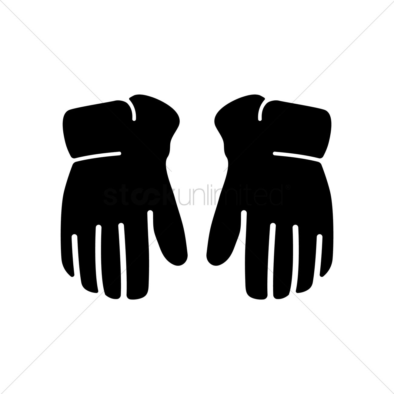 hockey gloves vector image 1988014 stockunlimited