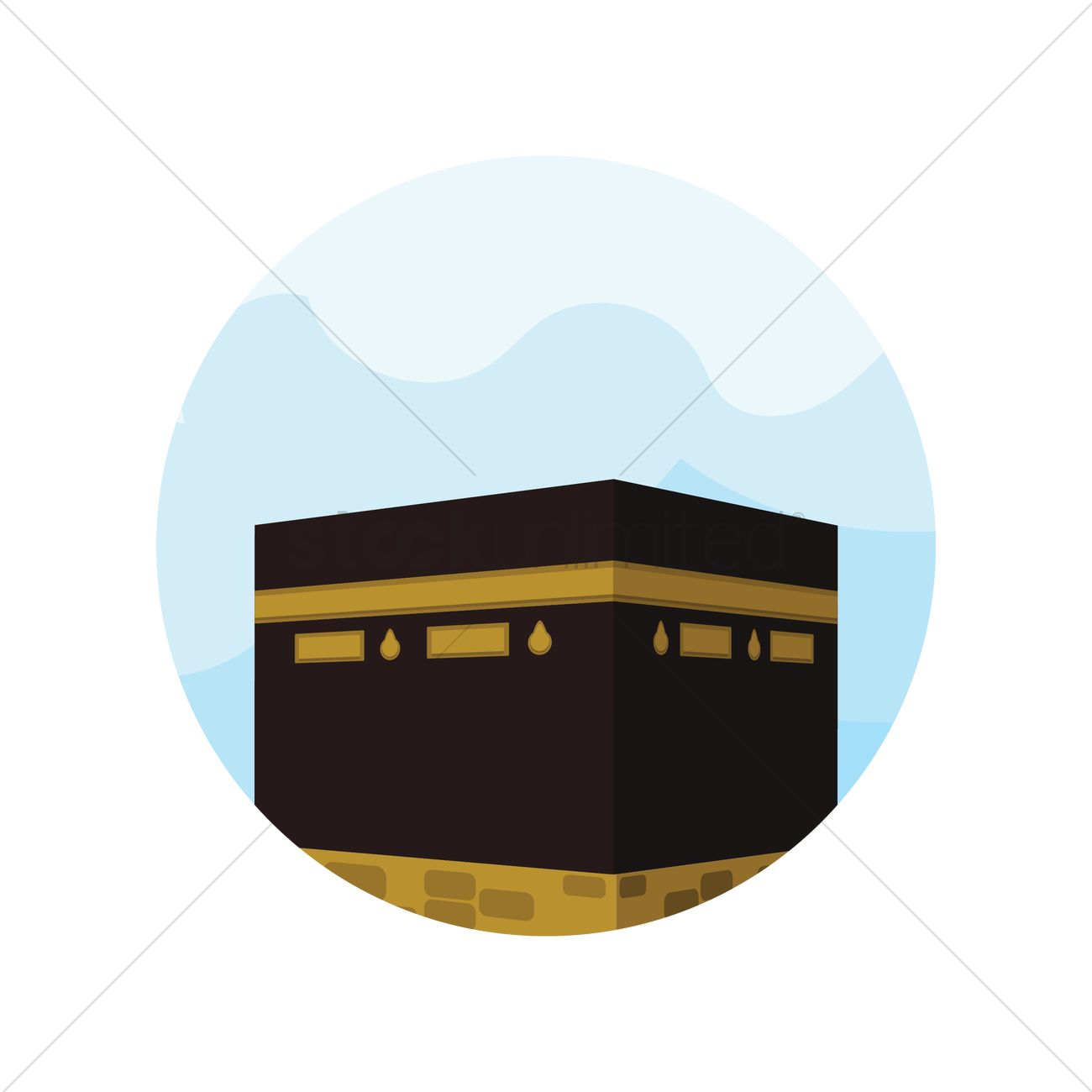 holy kaaba in mecca vector image 1317202 stockunlimited holy kaaba in mecca vector image