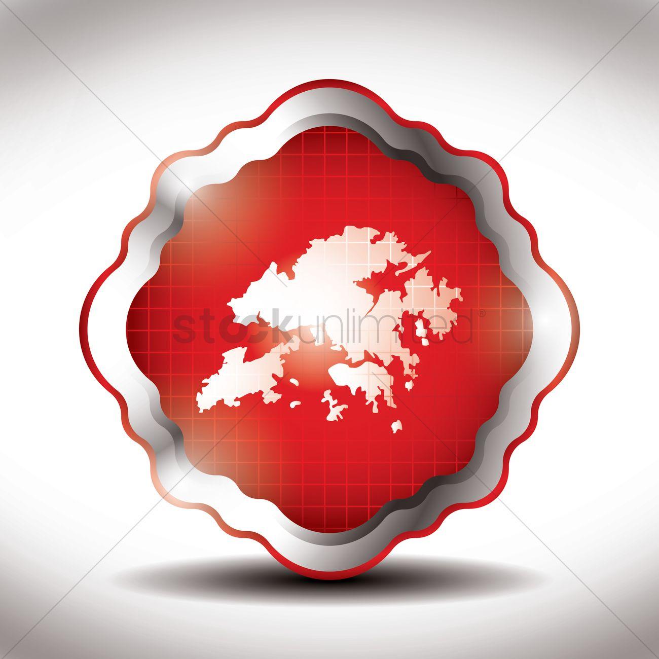 Hong kong map icon Vector Image - 1597106 | StockUnlimited