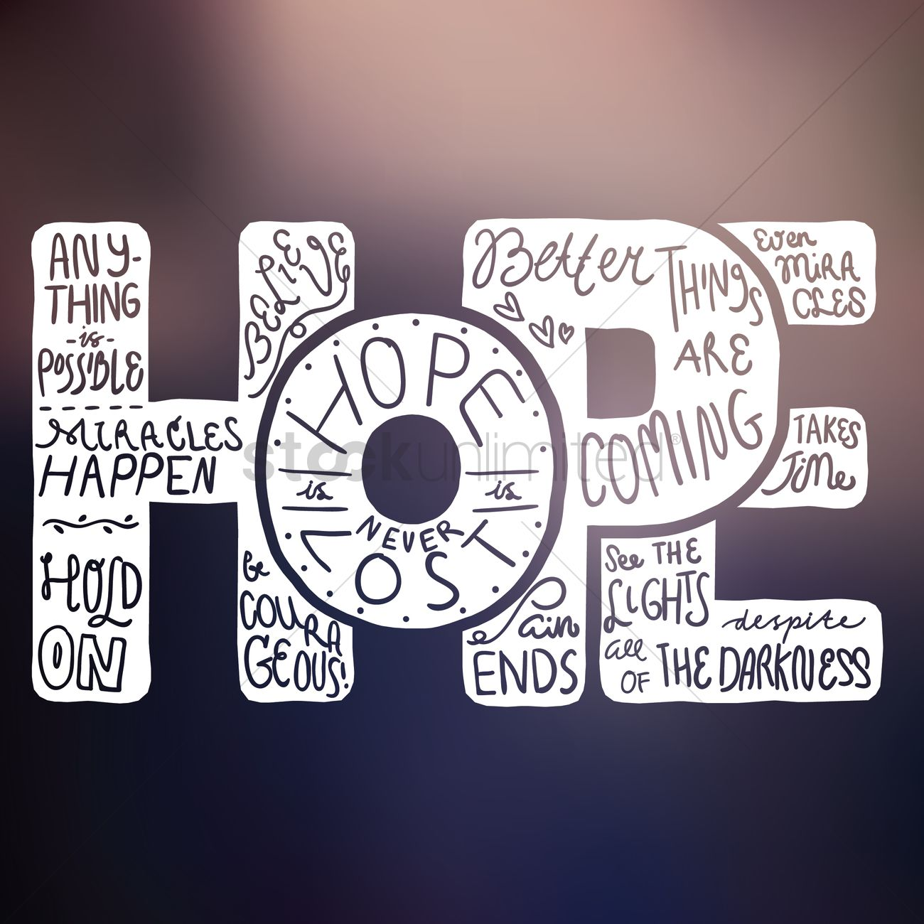 Hope Typography Design Vector Image 1957938 Stockunlimited