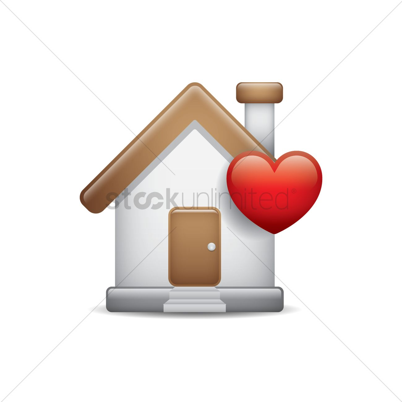 Pleasant House With A Heart Icon Vector Image 1875258 Stockunlimited Home Remodeling Inspirations Genioncuboardxyz