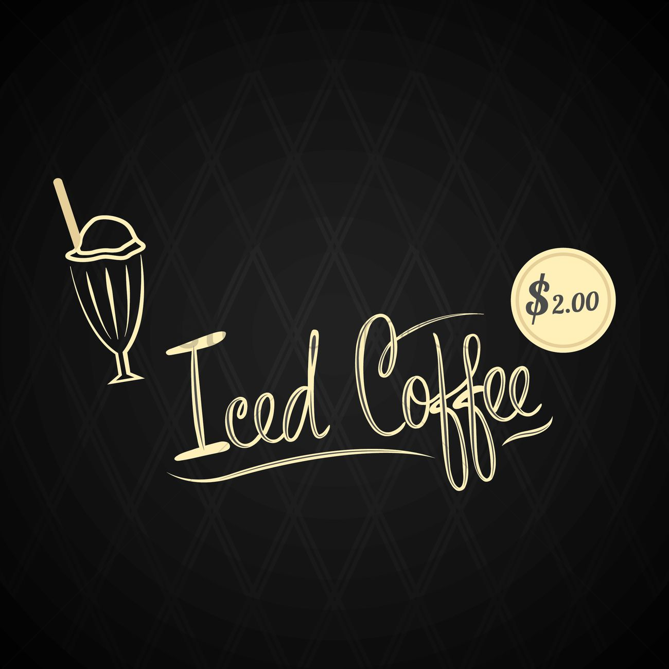 iced coffee menu design vector image 1705962 stockunlimited