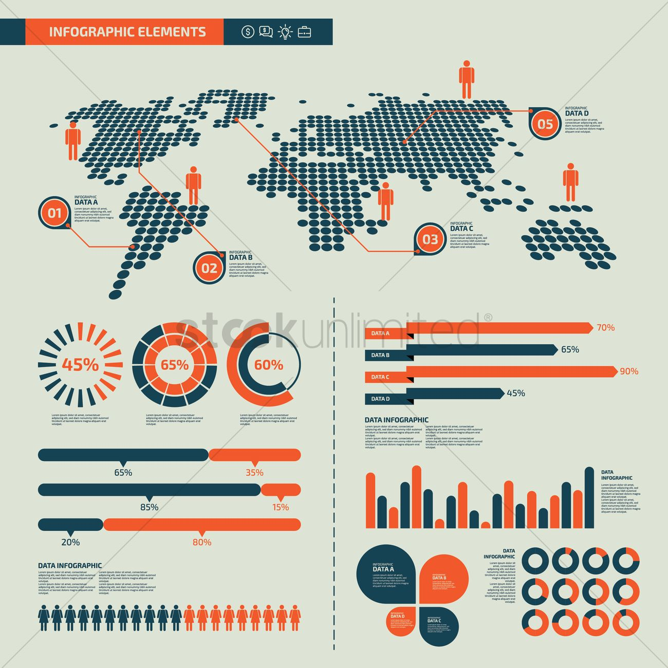 infographic design elements vector image - 1798246 | stockunlimited