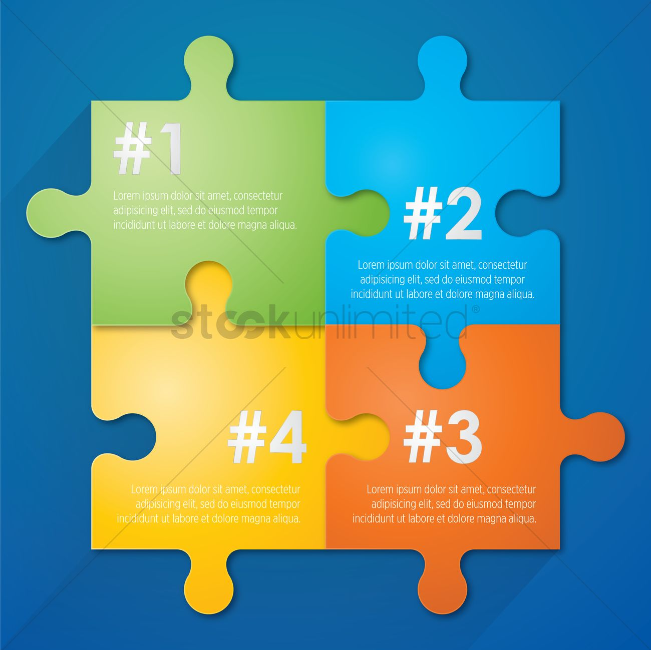 infographic jigsaw template vector image 1259986 stockunlimited