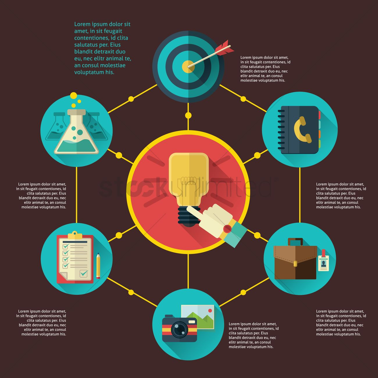 Infographic Of Idea Concept Vector Image 1549298 Stockunlimited With Light Bulb Template For Creative Diagram Graphic