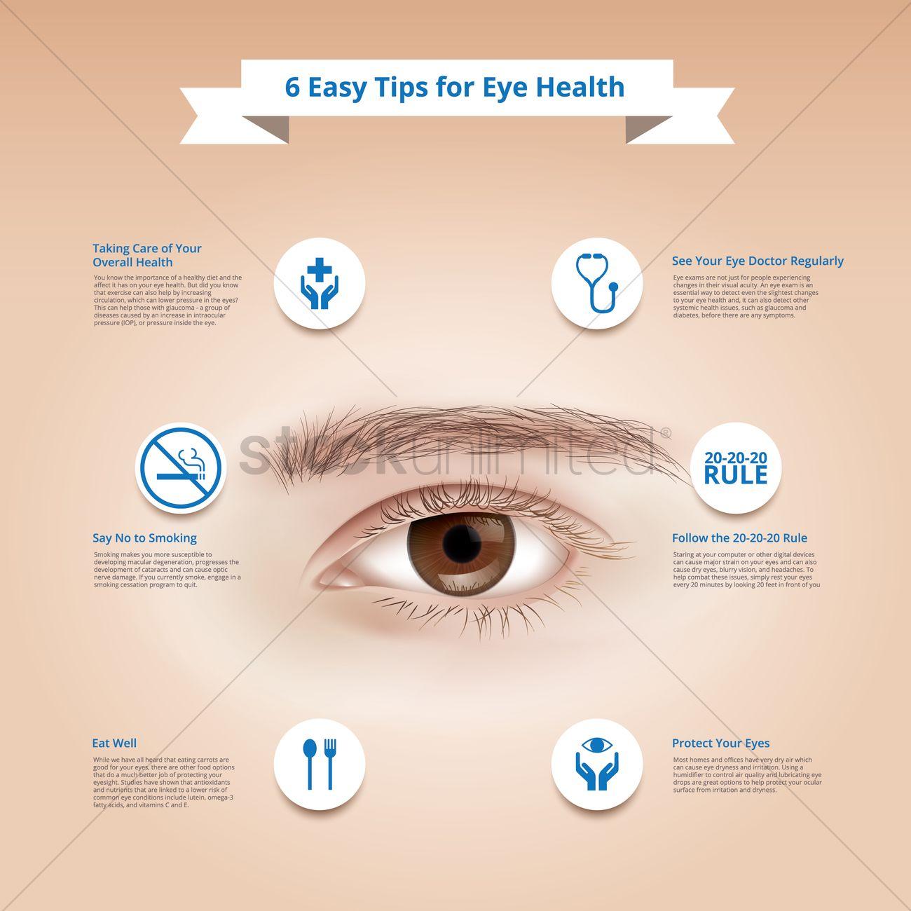74e8f3d35a Informative eye health design Vector Image - 1962078