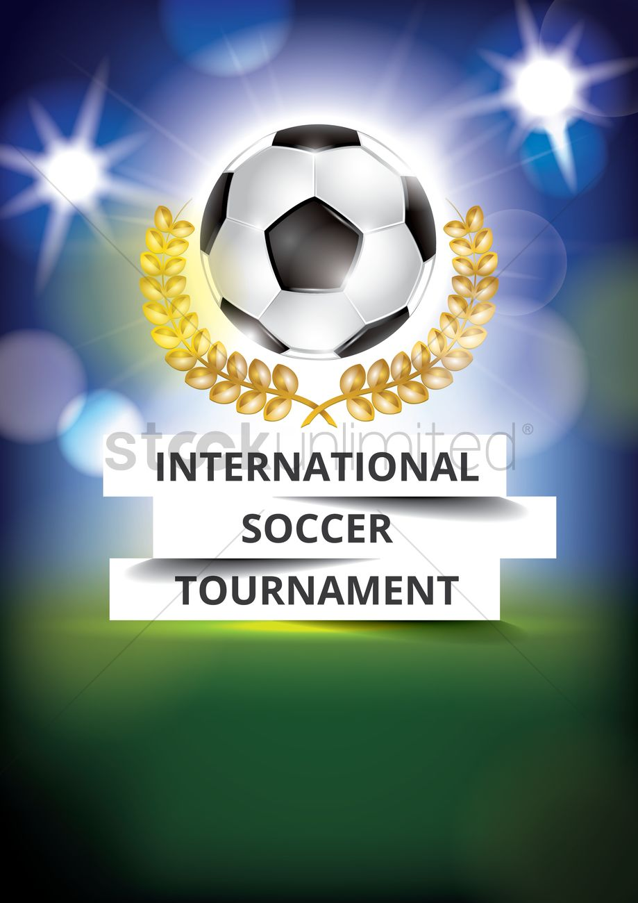 International Soccer Tournament Poster Design Vector Graphic