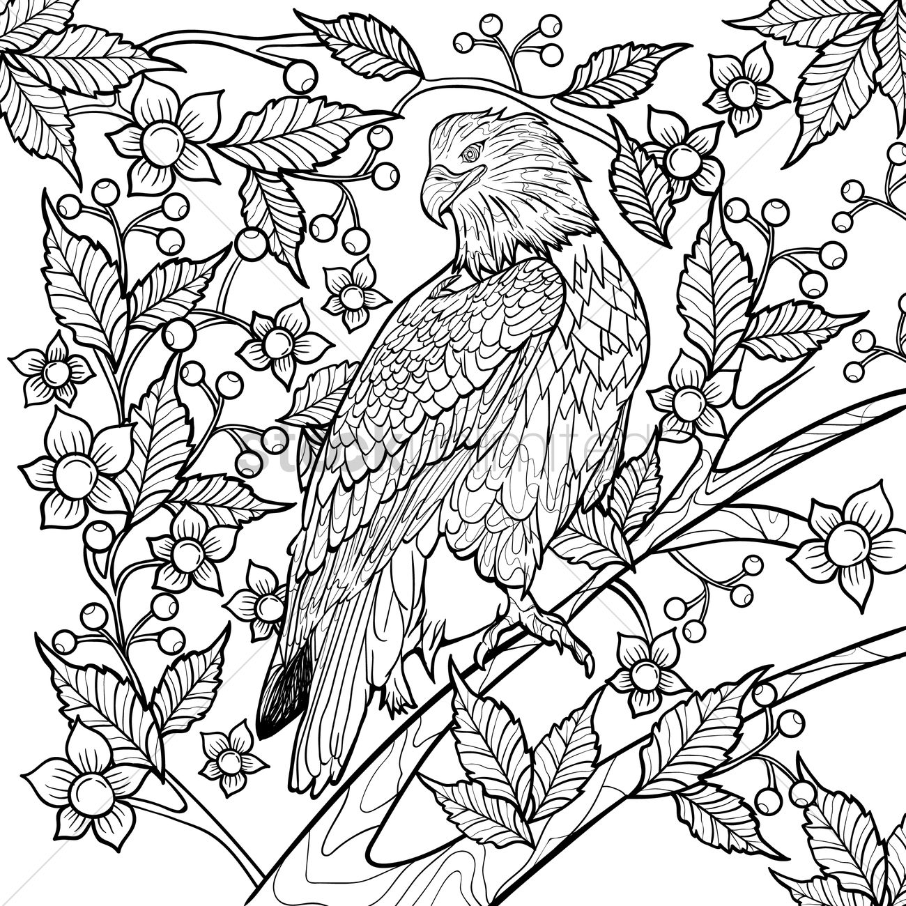 intricate eagle design vector image 1999558 stockunlimited