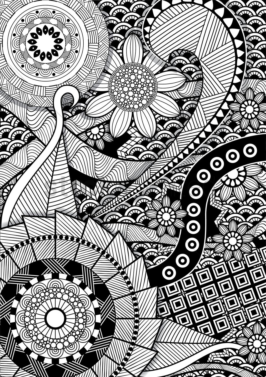 Intricate pattern design Vector