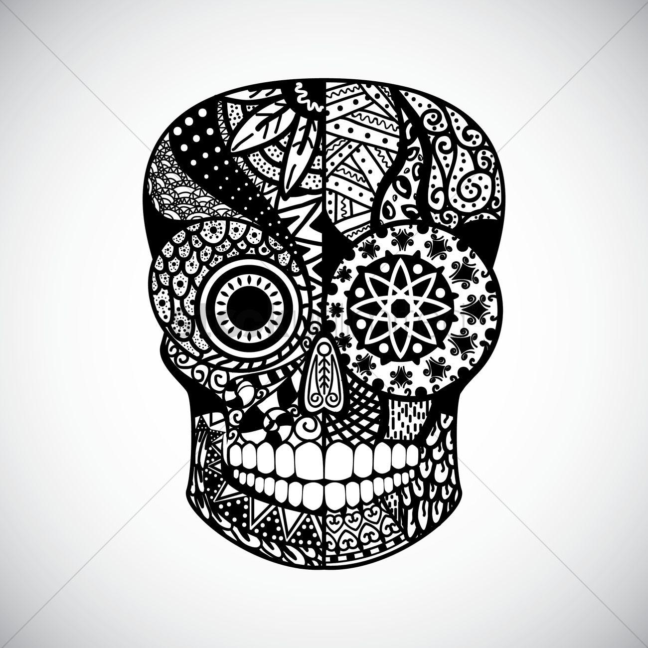 Vector Illustration Web Designs: Intricate Skull Design Vector Image - 1555094