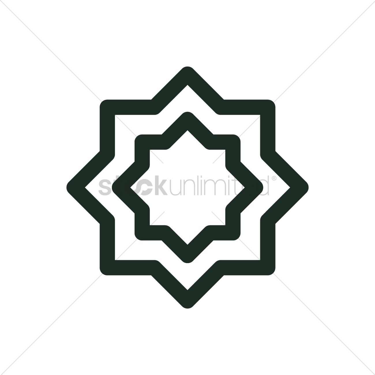 Islamic Design Icon Vector Image 2024502 Stockunlimited