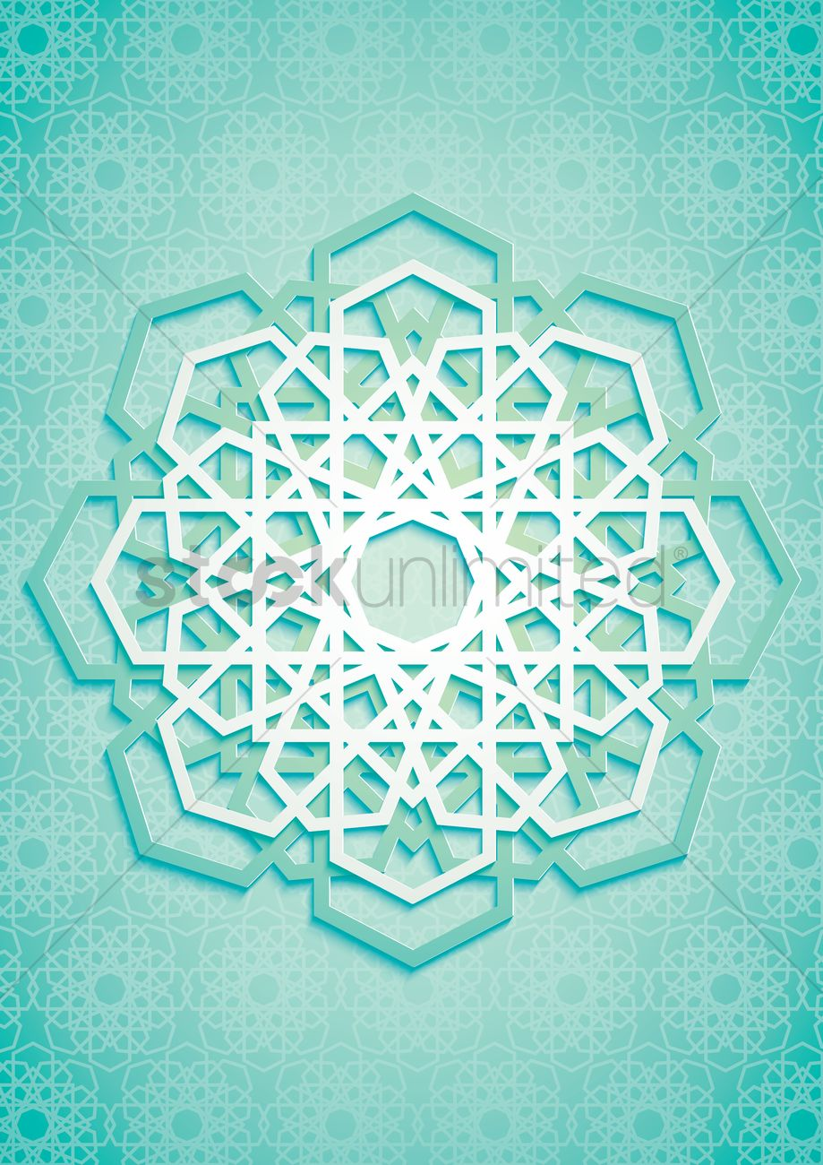 Islamic geometric pattern design Vector Image - 1959322 | StockUnlimited