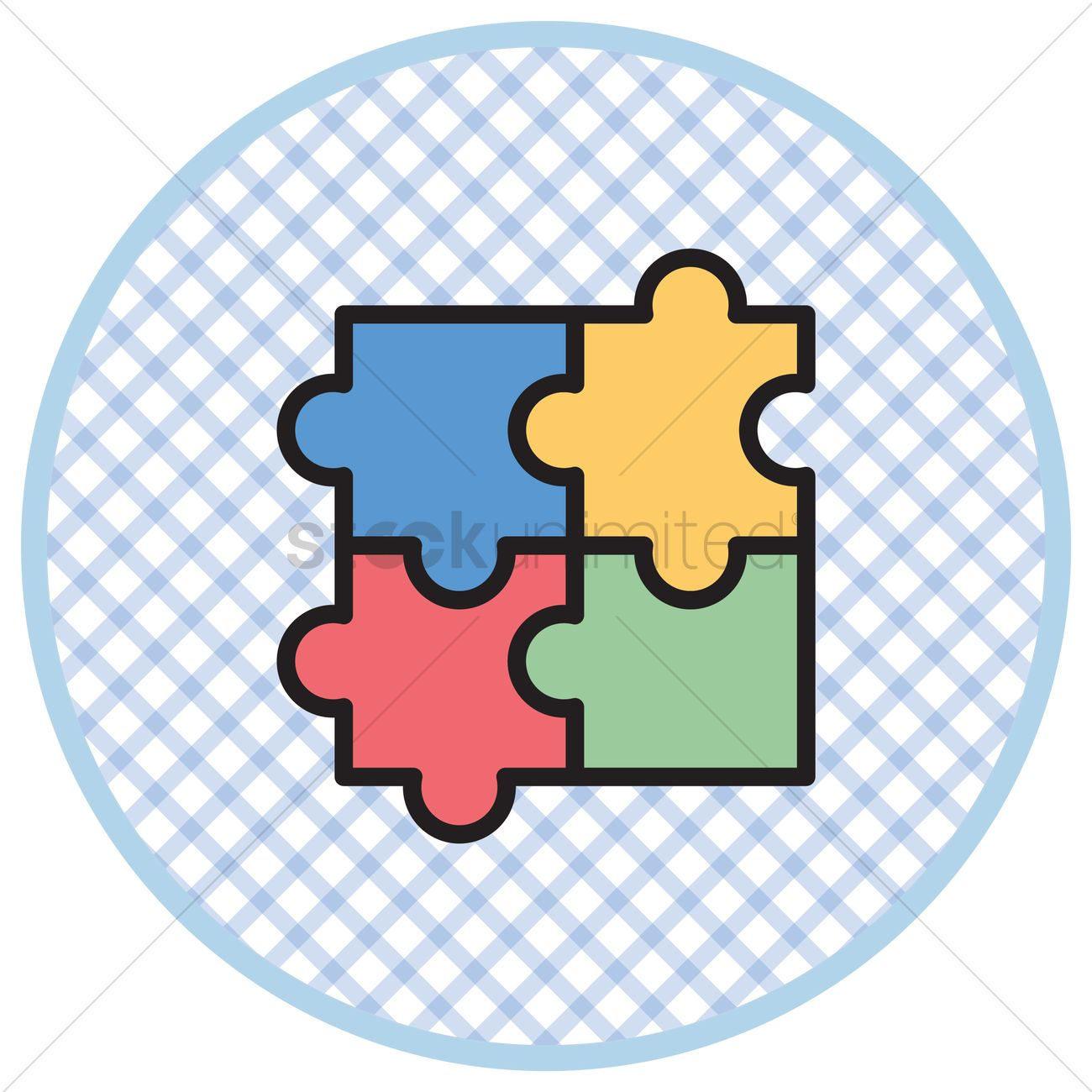 Free Jigsaw puzzle Vector Image - 1303018 | StockUnlimited