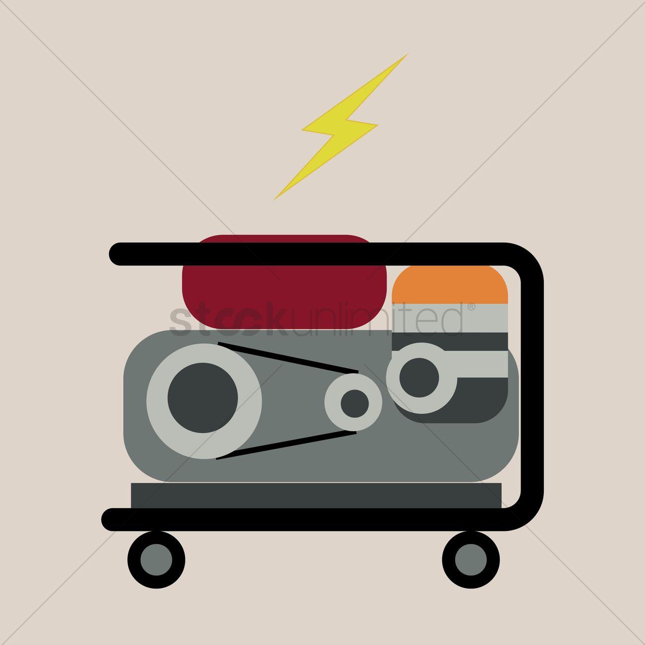 Kerosene Power Generator Vector Image 1425830 Stockunlimited