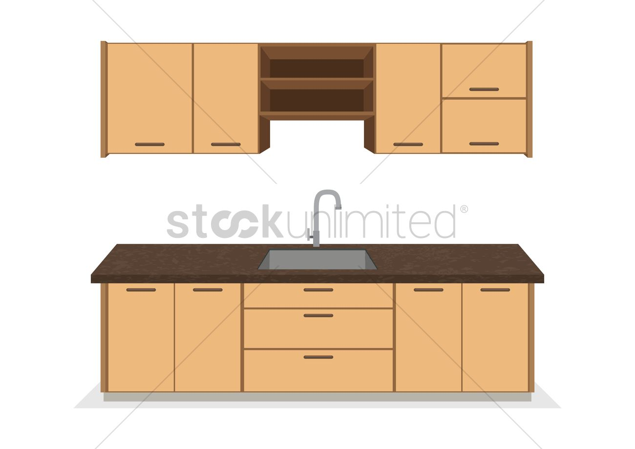 Kitchen Cabinets Vector Image 1263806 Stockunlimited