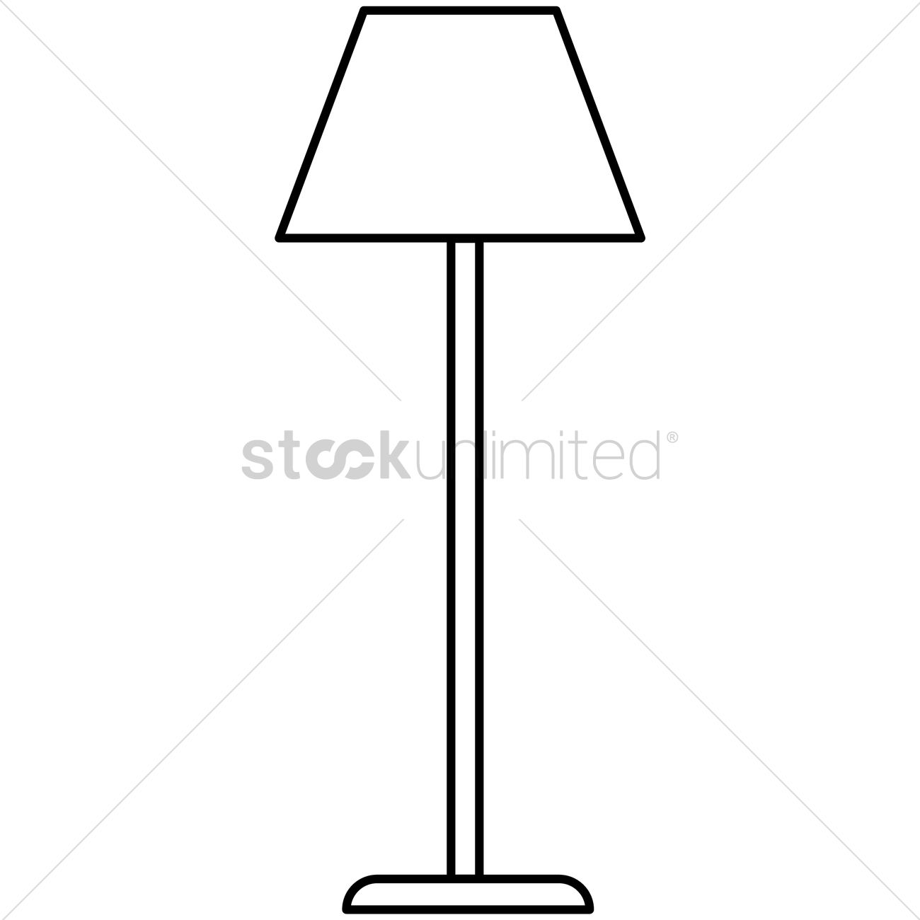 Lamp stand Vector Image - 1462818 | StockUnlimited for Floor Lamp Clipart  51ane