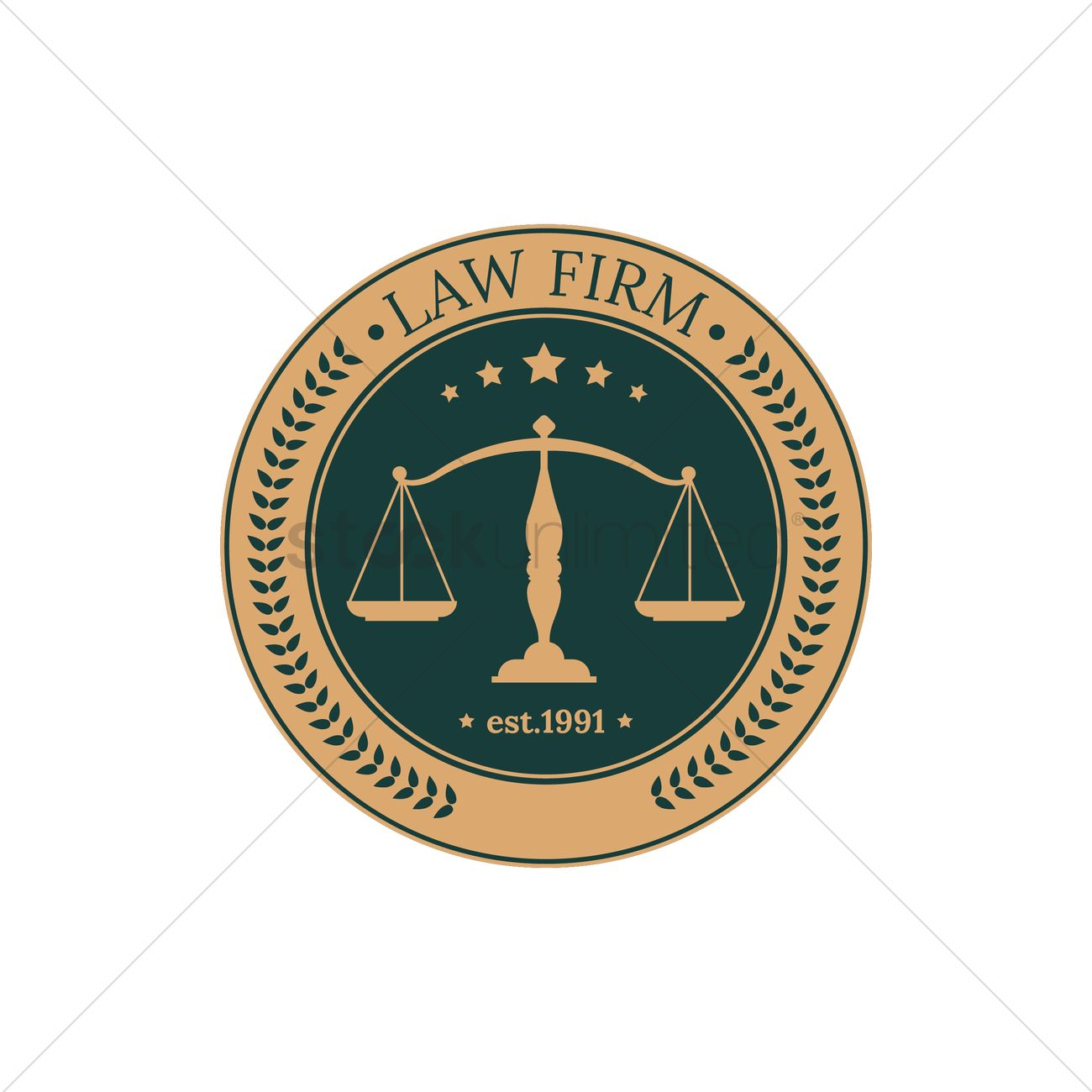 Law firm logo element design Vector Image - 1969774 | StockUnlimited