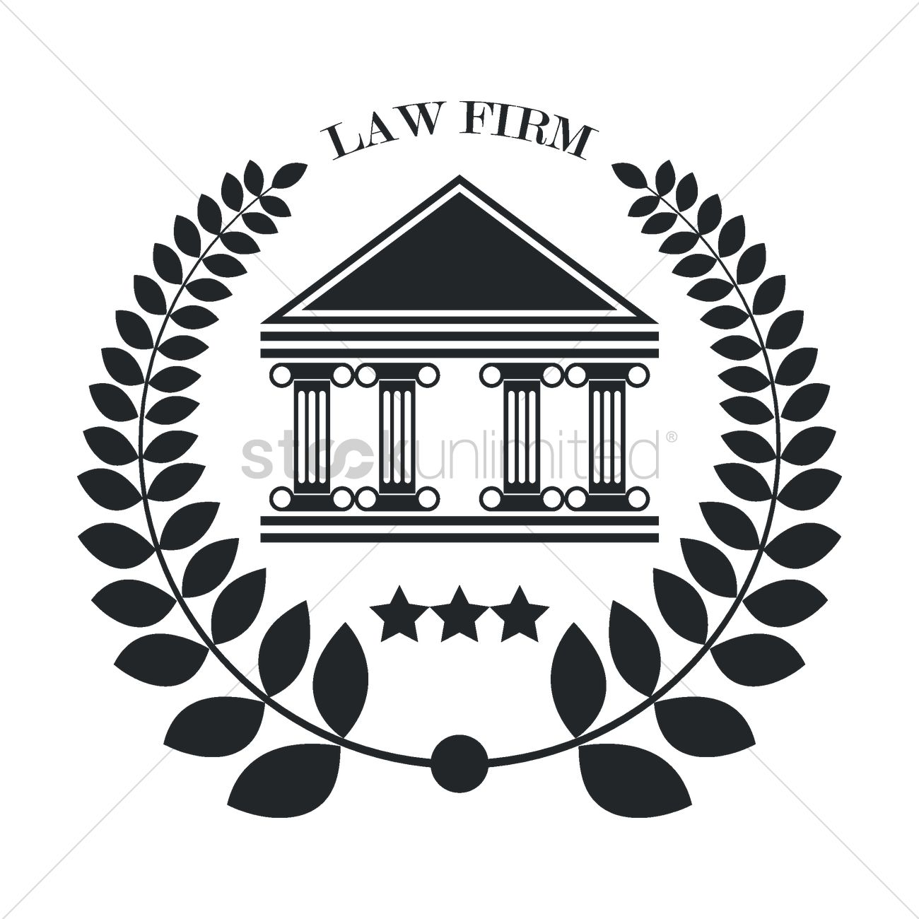 Law firm logo element Vector Image - 1982950 | StockUnlimited