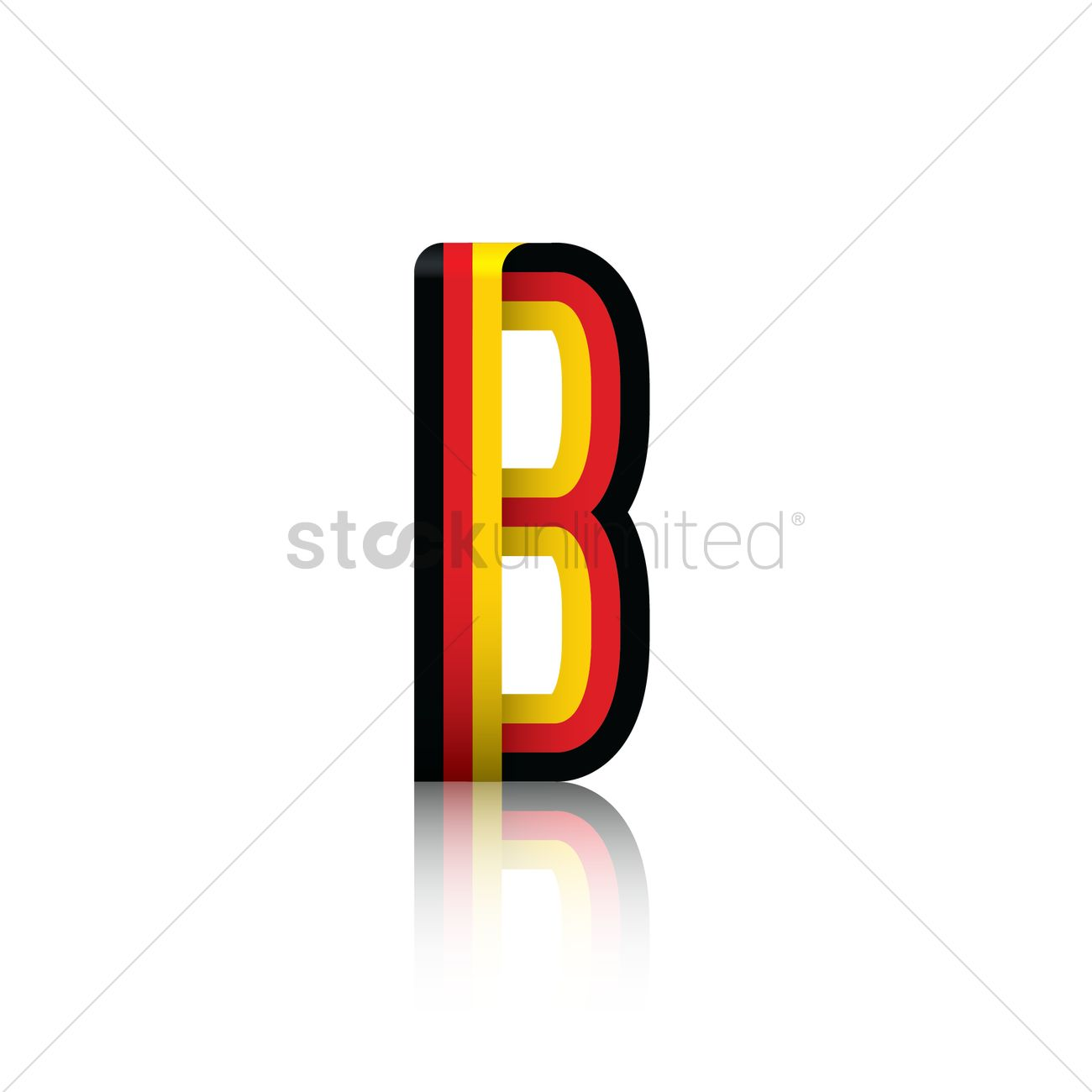 Letter b with german flag Vector Image   1954238 | StockUnlimited