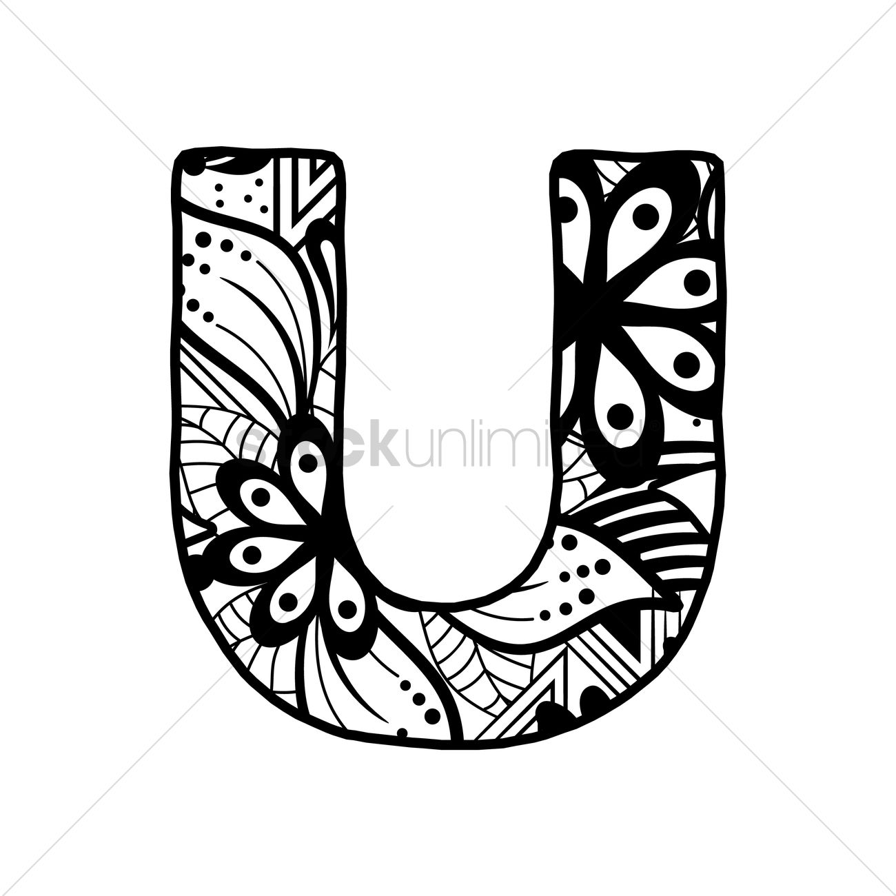 the letter u letter u vector image 1544154 stockunlimited 25188 | letter u 1544154